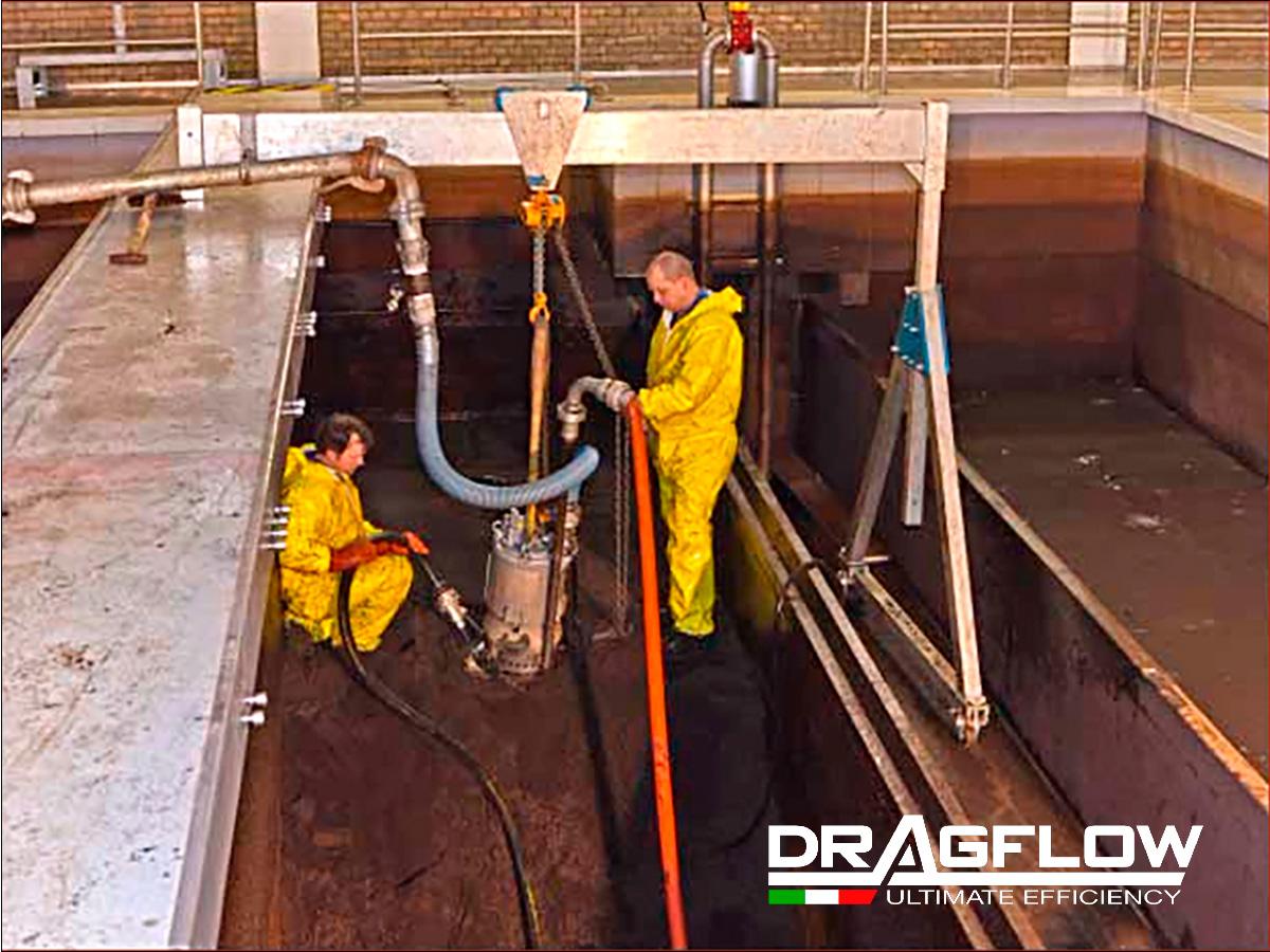 Шламовый грунтовый насос DRAGFLOW EL5  с электрическим приводом. Удаление загрязненного песка