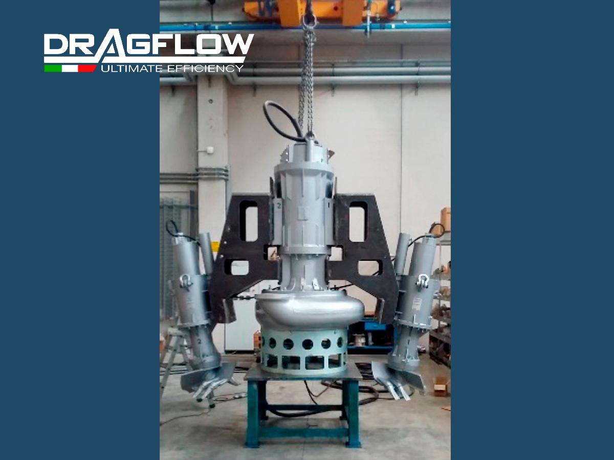 ШЛАМОВЫЙ НАСОС DRAGFLOW EL150 + 2EXEL20 c электрическим приводом